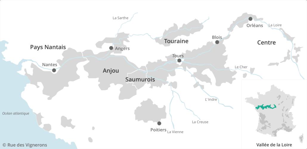 Carte vignoble de Loire