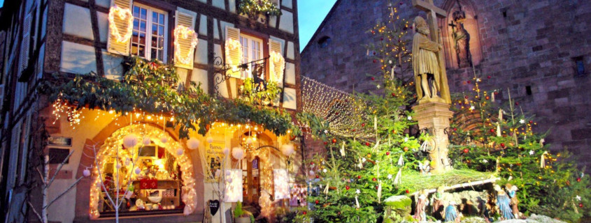 Noël en Alsace, Marché de noël d'Alsace, Alsace, Kaysersberg, Marche de noël Kaysersberg, Kaysersberg, que faire à kaysersberg, crèche, eglise Sainte-Croix, avent