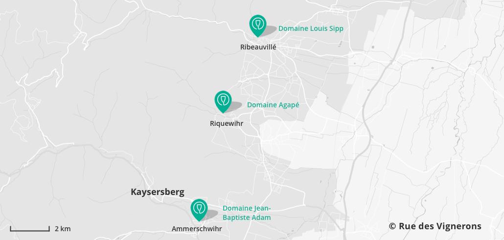 Caves à visiter près de Kaysersberg Alsace