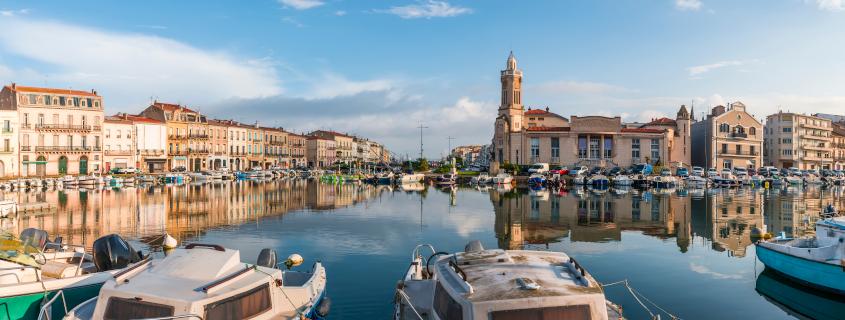 Centre ville de la ville de Sète