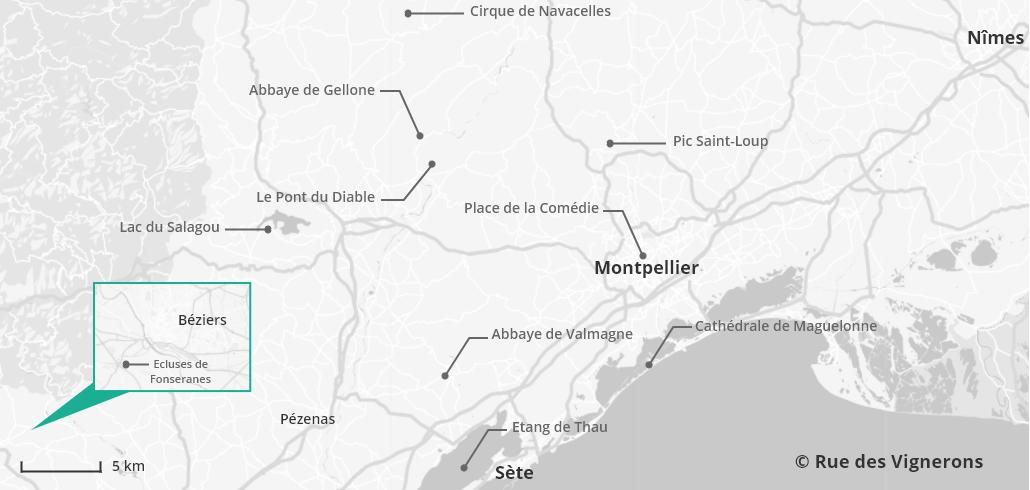 Carte tourisme Hérault, carte touristique hérault