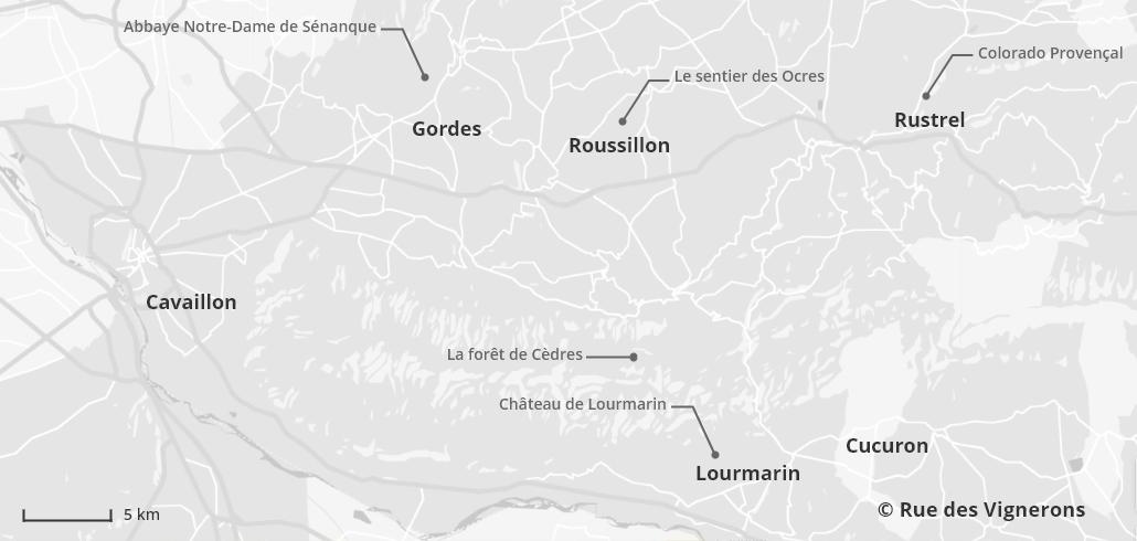 Carte du Lubéron